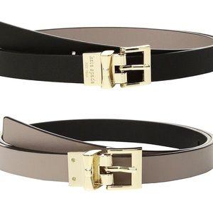 KATE SPADE Reversible Skinny Leather Belt